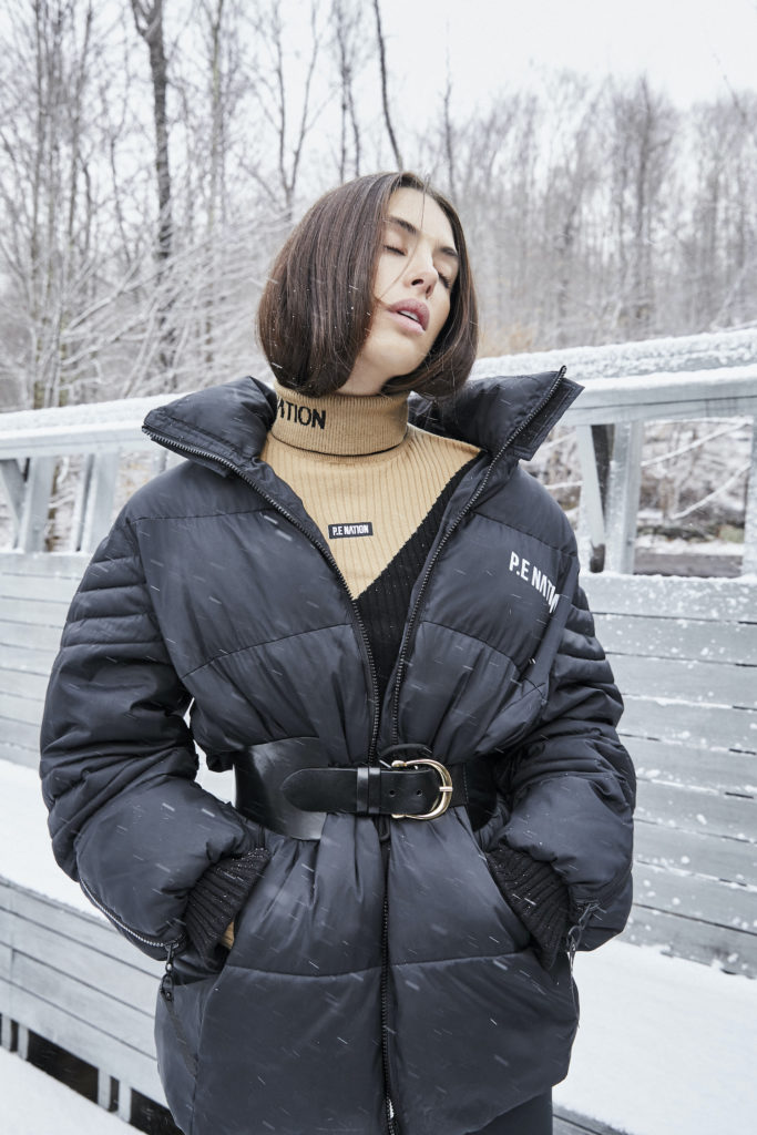 P.E. Nation ski collection puffer jacket
